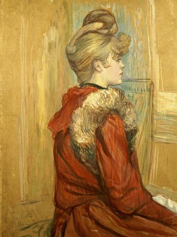 Girl in a Fur, Miss Jeanne Fountain, 1891 Giclee Print
