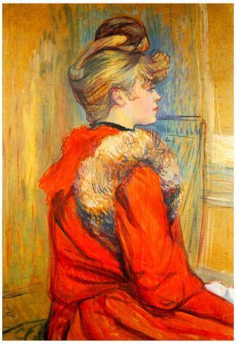 Henri de Toulouse-Lautrec Girl with Fur Study for the Moulin de la Galette Art Print Poster Poster