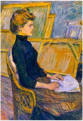 Henri de Toulouse-Lautrec Helene Vary in the Study Art Print Poster Poster