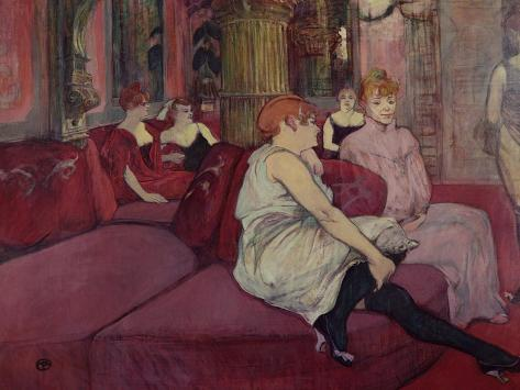 In the Salon at the Rue des Moulins, 1894 Lámina giclée