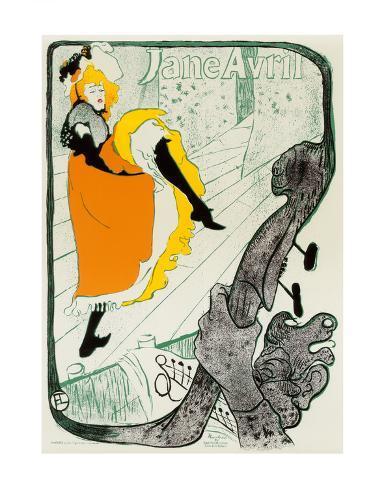 Jane Avril, 1893 Art Print
