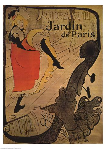 Jane Avril in Jardin de Paris Art Print
