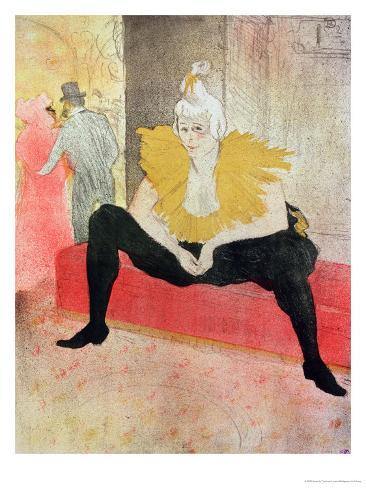 La Clowness Looks Around, Madamoiselle Cha-U-Kao Giclee Print