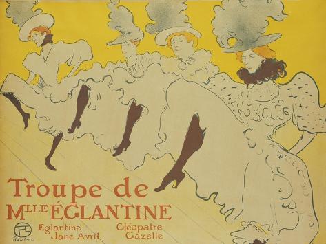 La Troupe de Mademoiselle Eglantine, 1896 Lámina giclée