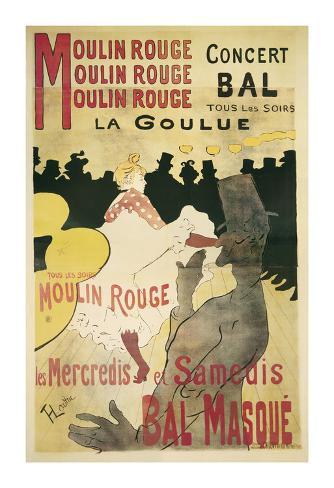 Moulin Rouge, La Goulue Art Print
