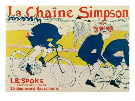 Poster for La Chaine Simpson, Bicycle Chains, 1896 Giclee Print