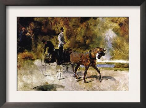The One Horse Carraige Framed Art Print