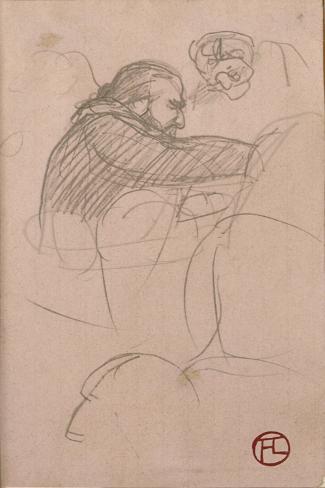 The Surgeon Pean Operating (Man in Profile), 1891 Impressão giclée