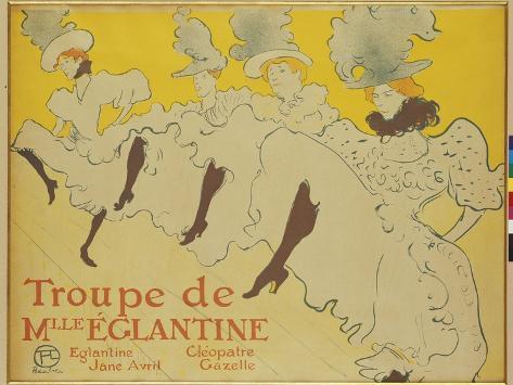 The Troupe of Mademoiseele Eglantine, 1896 Impressão giclée