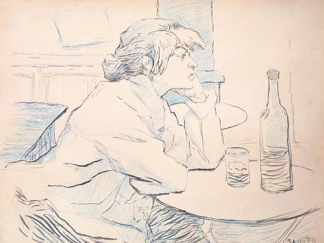 Woman Drinker, or the Hangover, 1889 Lámina giclée