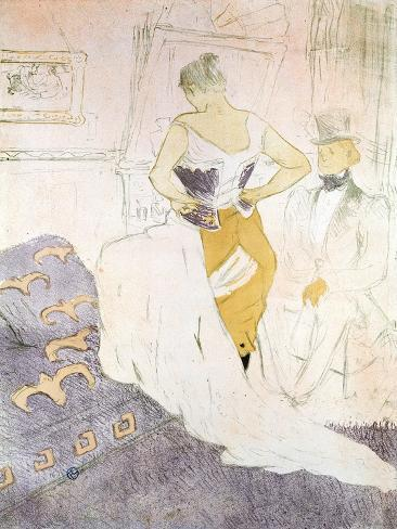 Woman in a Corset from 'Elles', 1896 Giclee Print