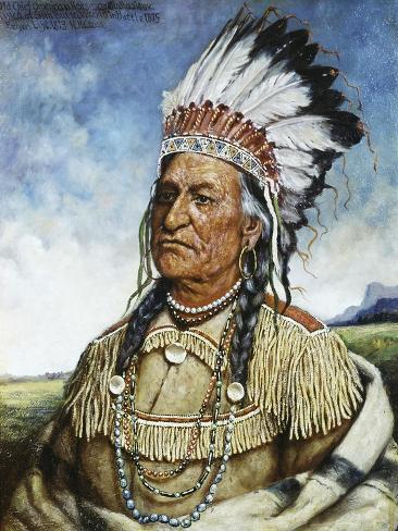 Old Chief American Horse Impressão giclée