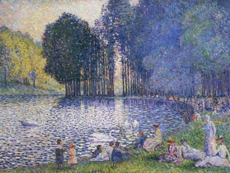 The Lake in the Bois de Boulogne, circa 1899 Giclee Print