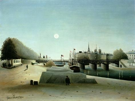 A View of the Ile Saint-Louis from Port Saint-Nicolas, Evening, C.1888 Giclee Print