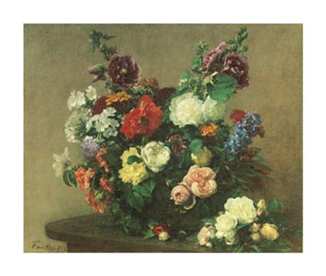 Bouquet de Fleurs Diverses Art Print
