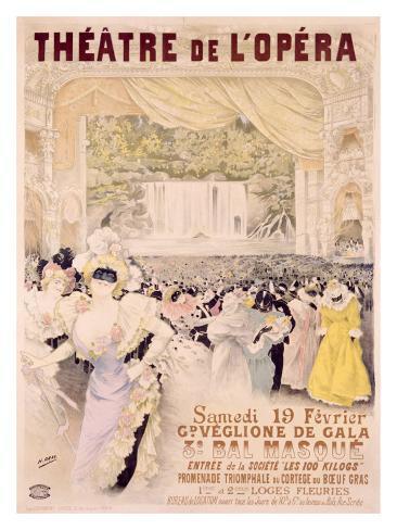Theatre de l'Opera Giclee Print