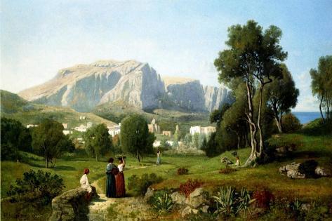 Capri, 1853 Lámina giclée