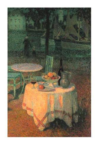 Der Kleine Gedeckte Tisch Art Print