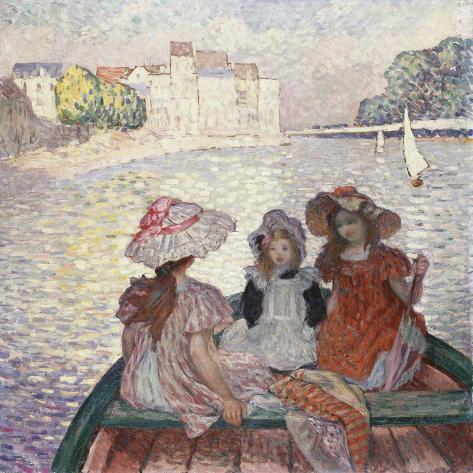 Three Girls in a Boat Lámina giclée