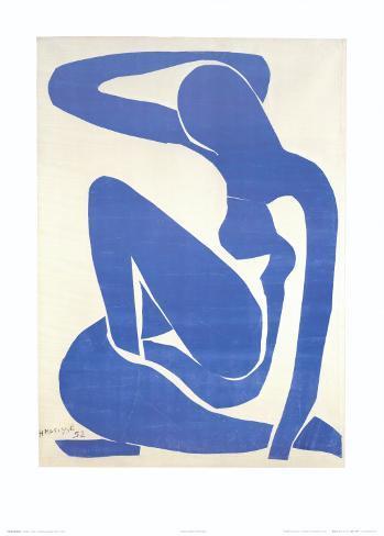 Blue Nude I, c.1952 Art Print
