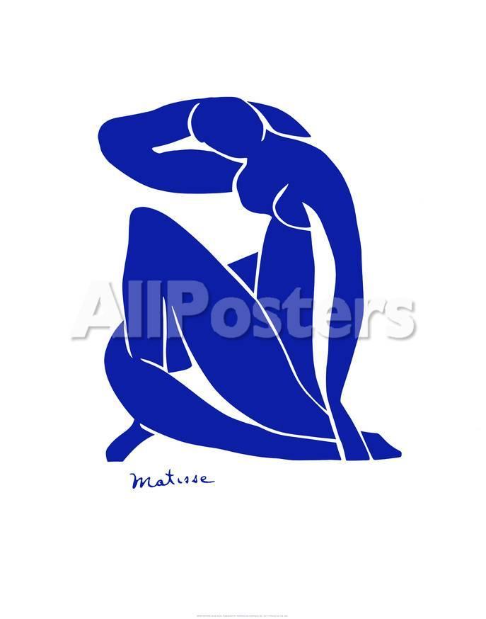 Desnudo azul Póster por Henri Matisse en AllPosters.es