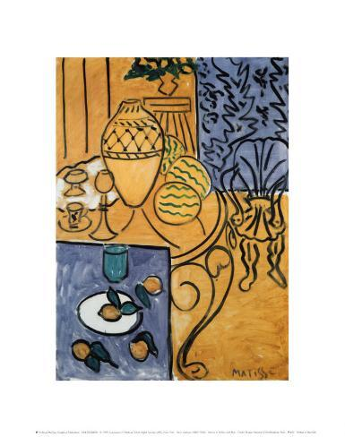 Interior in Yellow and Blue, 1946 Art Print