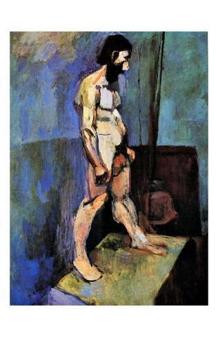 Male Nude Model Giclee Print