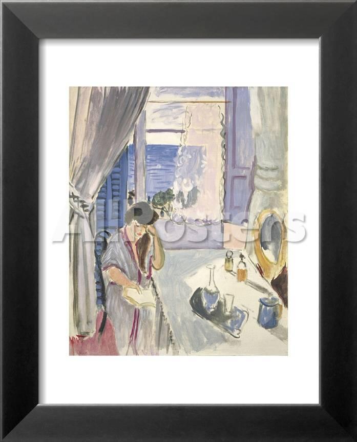 Mujer leyendo en el tocador, finales de 1919 Pósters por Henri ...