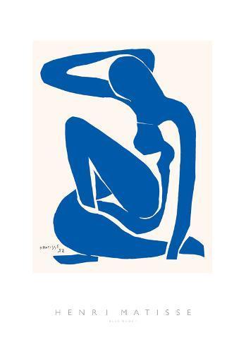 Nu azul Impressão artística