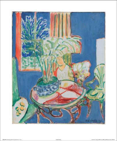 Petit Interieur en Bleu, c.1947 Kunstdruk