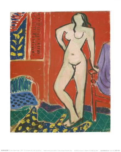 Pink Nude, Red Interior, c.1947 Lámina