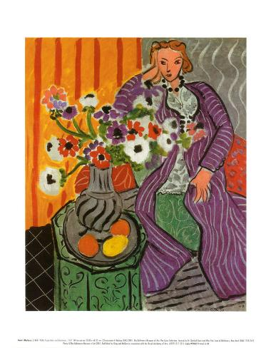 Purple Robe and Anemones 1937 Art Print