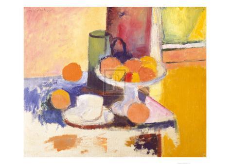 Still Life with Oranges Framed Art Print