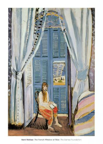 The French Window at Nice, Late 1919 Kunstdruk