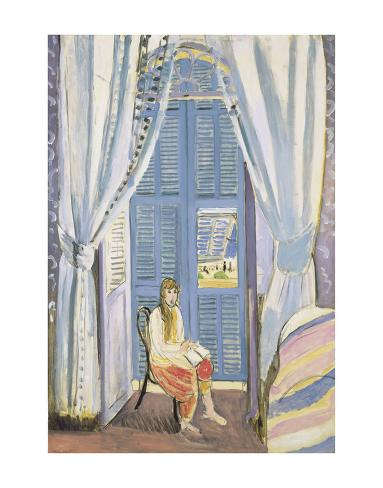 The French Window at Nice, Late 1919 Art Print