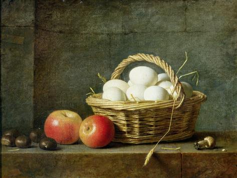 The Basket of Eggs, 1788 Giclée-vedos