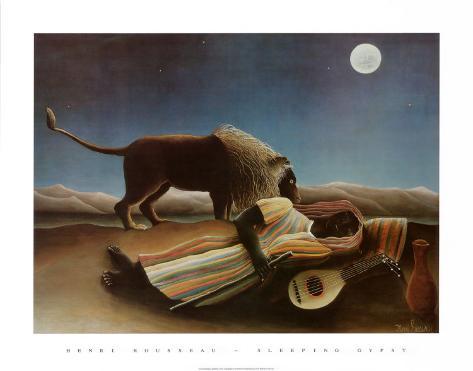 Sleeping Gypsy, 1897 Art Print