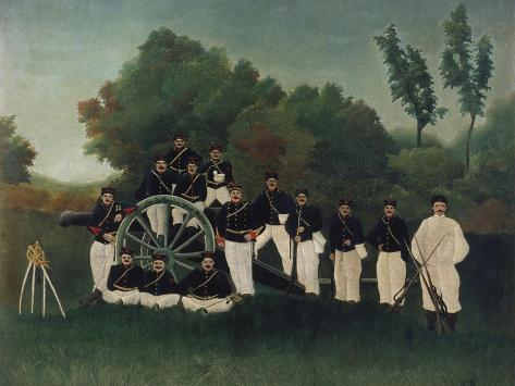 The Artillerymen, about 1895 Giclee Print