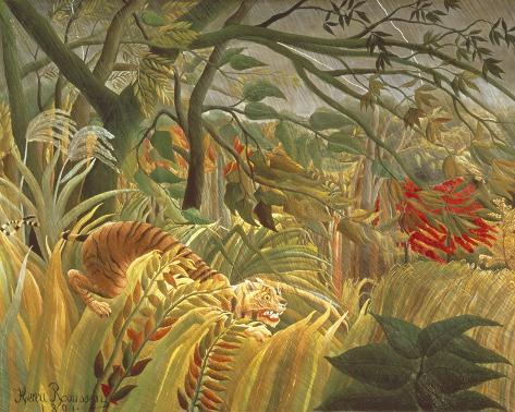 Tiger In A Tropical Storm Giclee Print
