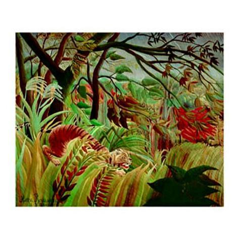 tiger in tropical storm l minas por henri rousseau en. Black Bedroom Furniture Sets. Home Design Ideas