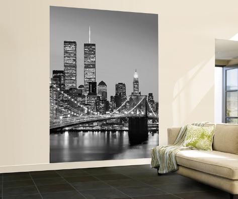 Henri silberman brooklyn bridge new york city wall mural for Acheter poster mural new york