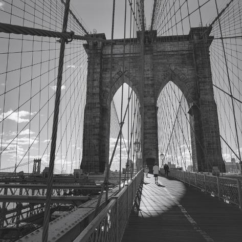 brooklyn bridge new york city muursticker van henri silberman bij. Black Bedroom Furniture Sets. Home Design Ideas