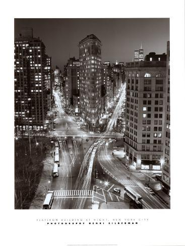Flatiron Building at Night Art Print