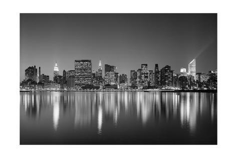 Manhattan East Side - New York City Skyline at Night Photographic Print