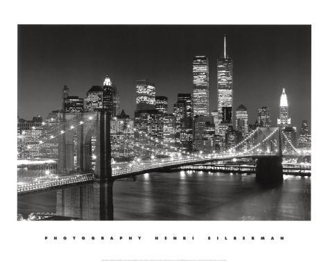 New York, New York, Brooklyn Bridge Art Print