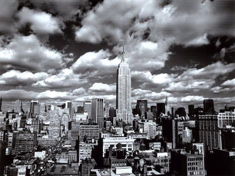 New York, New York, Sky Over Manhattan Art Print