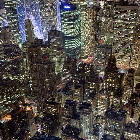 Vista dall 39 alto del met life building di notte new york for Foto new york notte