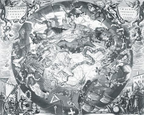 Haemisphaeri Graphicum Coelitietum Sceno Australae Stella Terrae, 1660 Giclee Print