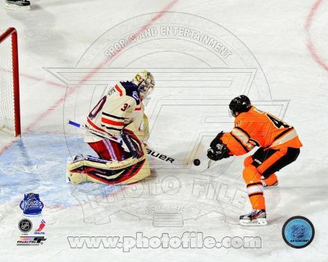 Henrik Lundqvist 2012 NHL Winter Classic Penalty Shot Save Photo