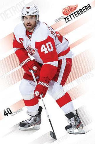 Henrik Zetterberg Detroit Red Wings Poster